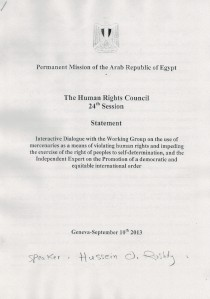Statement Egypt (1:3)