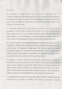 Statement Egypt (2:3)