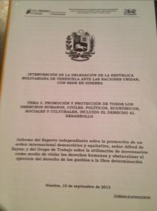 UN. Statement.Venezuela.Page1